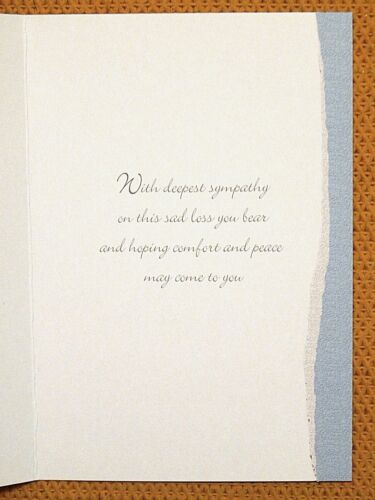 6 Pack of Sympathy Cards Condolance Mourning Bereavement Sorry for your loss //s2