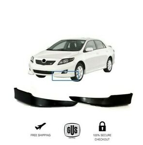 2010 Toyota Corolla S >> Details About For 2009 2010 Toyota Corolla S Factory Style Front Bumper Lips L R 2pcs Set