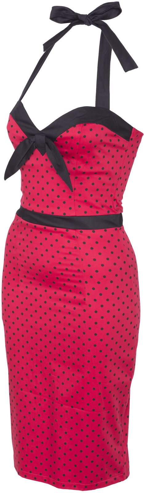Coste Coste Coste carogna Nelly FIFTIES PIN UP Polka Dots punti Pencil Dress Abito Rockabilly 56339c