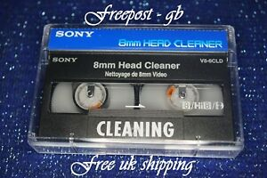 SUPER SONY V8-6CLD Video 8 - 8mm - Hi8 & Digital 8 Head Cleaning Tape / Cassette