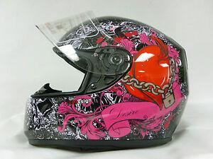 Moto-Casque-Viper-RS250-DESIRE-Integral-Moto-Casque-Femme-Casque-Pour-Scooter