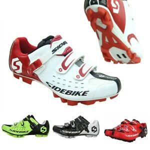 SIDEBIKE-Mens-Women-MTB-Mountain-Bike-Fitness-Cycling-Shoes-For-Shimano-SPD