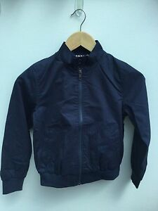 ec8ae795c FAB BOYS NAVY BLUE SMART CANVAS ZIP UP BOMBER JACKET AGES 7-14