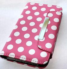 Samsung Galaxy S2 D710 (Sprint/Verizon) - Pink Polka Dots Wallet Flip Pouch Case
