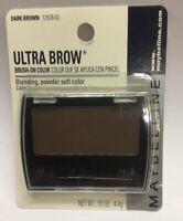 Maybelline Ultra Brow Brush-on Color ( Dark Brown ) Original Formula Carded.