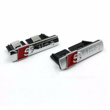 S-Line Sline Front Grille Emblem Badge Chrome ABS -Front grille mount for Audi