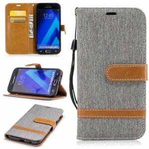Samsung-Galaxy-A5-2017-Etui-Coque-Telephone-Portable-Protection-Pochette-de-Gris