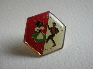 Pin-039-s-vintage-Collector-epinglette-publicitaire-ALSACE-region-Lot-D085
