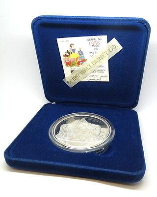 DISNEY Snow White PRINCE 50th Anniversary .999 Fine Proof 1oz Silver Medal O.Box