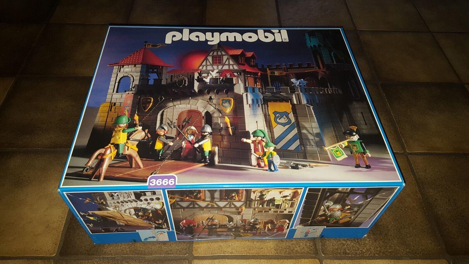 Super RARE-Playmobil Knights Castle 3666-MISB-nouveau  & Original Sealed  Nouvelle liste
