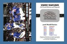 Chicago Cubs 2016 ACEO Sports World Series Champions Commemorative Card NEW!