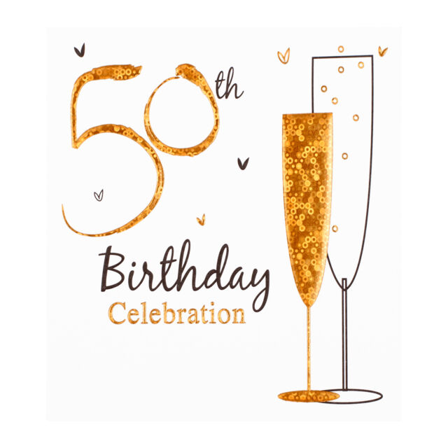 50th Birthday Party Invitation Cards Inc Envelopes 6 Pack Simon Elvin Qlty