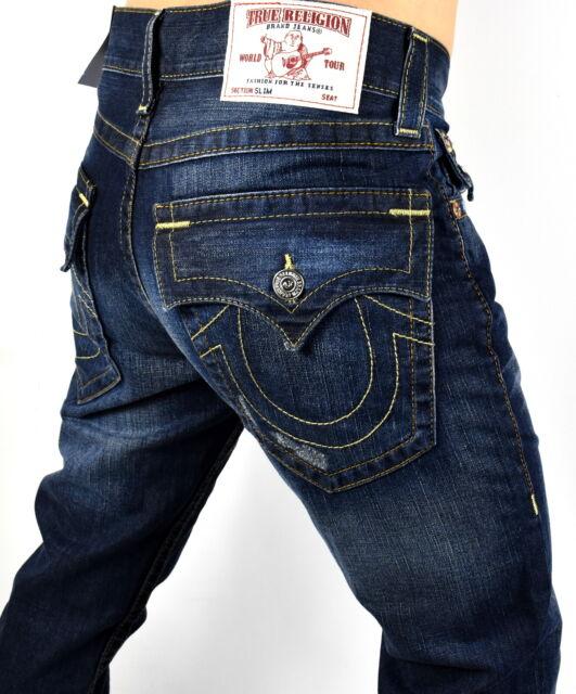 True Religion Men's Hand Picked Relaxed Slim Jeans - 101701