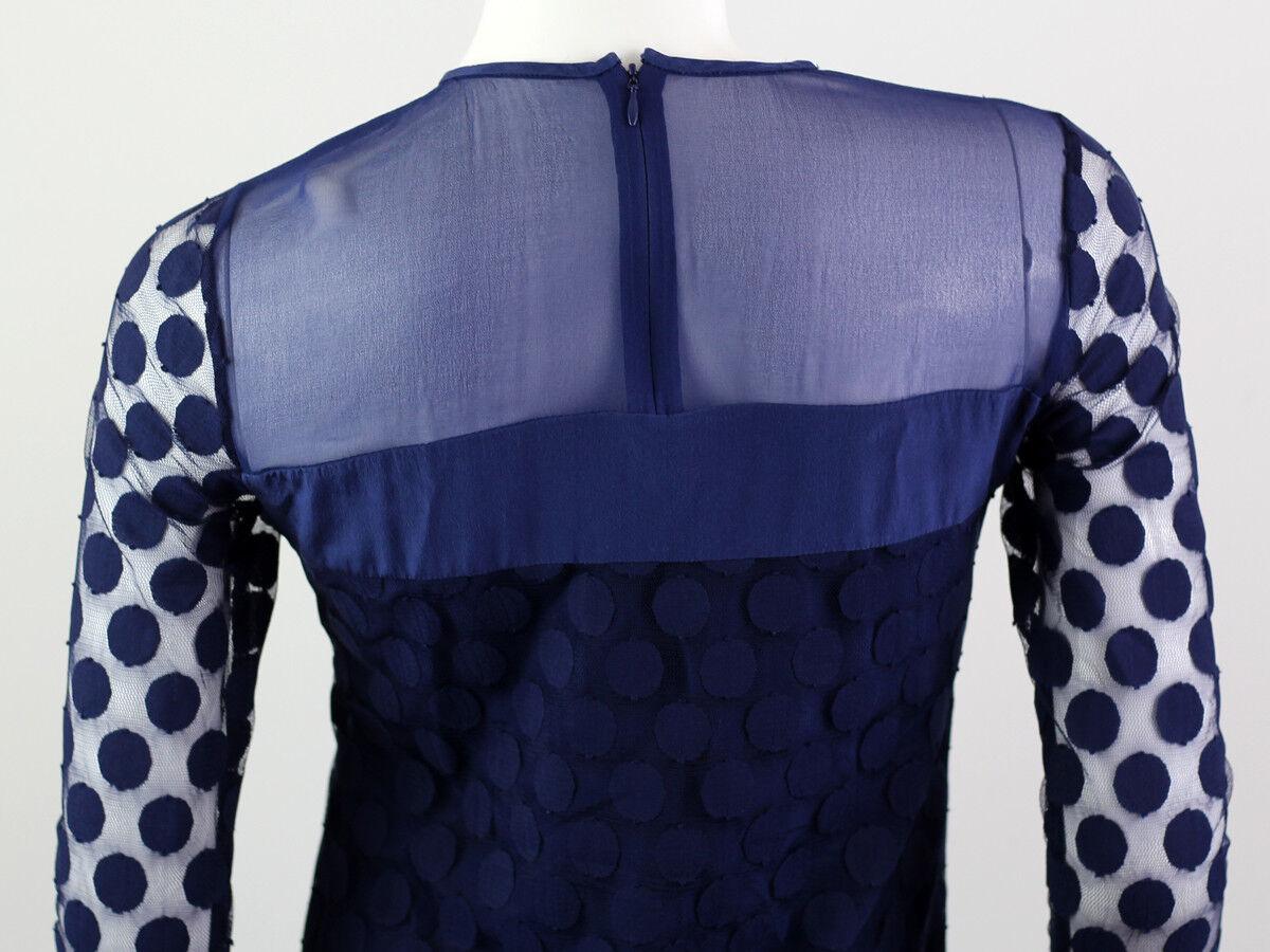 DIANA VON FURSTENBERG BLUE SILK LACE DRESS SIZE U… - image 7
