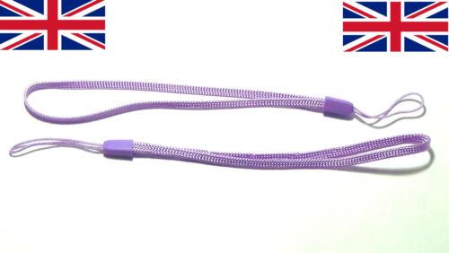 2x Wrist strap Light Purple hand wrap lanyard camera general loop safety key UK