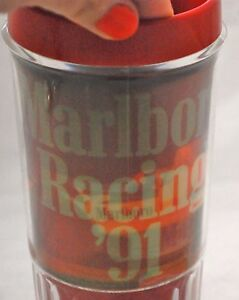 Vintage-Red-034-Marlboro-034-Racing-039-91-Team-INDY-CAR-Lenticular-Beer-Mug-Holographic