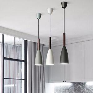 Details About Wood Pendant Light Kitchen Pendant Lighting Bar Modern Ceiling Light Home Lamp