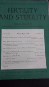 Revista Fertility Y Asrm Oficial Journal VOL5 Marzo-Abril 1954 P. B. Hoeber ABE
