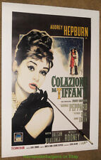 BREAKFAST AT TIFFANY'S MOVIE POSTER ITALIAN Reprint 26x38 AUDREY HEPBURN