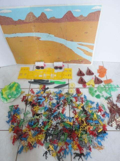 Redbox Wild West Playset Plastic Cowboys & Indians Huge Lot