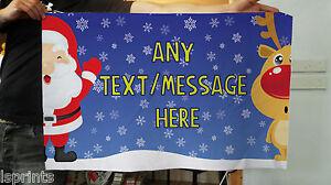 3ft-x2ft-Personalizado-De-Navidad-Cualquier-Texto-diseno-de-la-tela-Pancarta