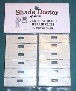The Original Shade Doctor Vertical Blind Ivory Flat Vane