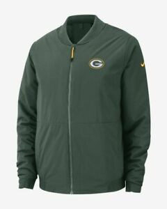 Details zu Nike Shield Mens NFL Green Bay Packers Bomber Jacket Coat Green Sz XL 943968