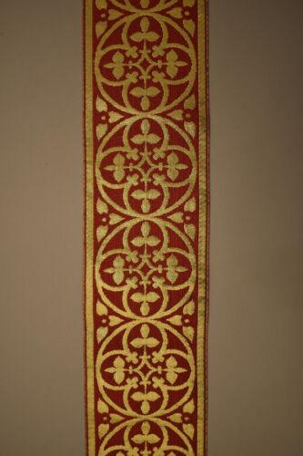 8 cm breit Bordüre Messgewand Kasel Casel Borte rot
