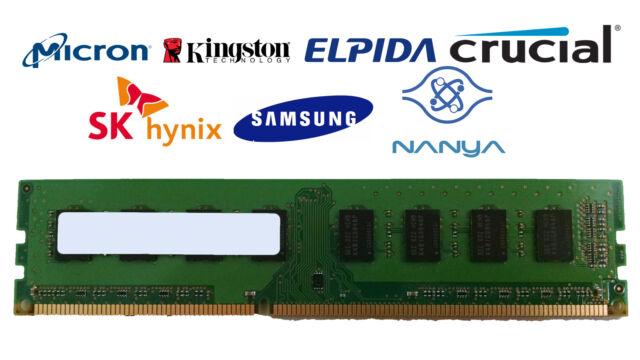 Lot of 50 2GB DDR3-1333 PC3-10600U 1Rx8 DDR3 SDRAM Desktop Memory