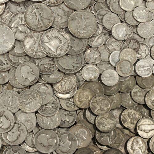 Mixed Silver Coins Lot Pre-1965 .999 Bars Bonus! ✯SILVER✯ ONE Troy Pound U.S