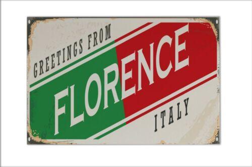 Carreau Tuile nostalgie Ville de Florence Italie céramique Imprimé 20x30 cm