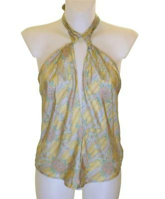 Bnwt Women/'s French Connection 100/% Silk Blouse Strappy Top Fcuk RRP£50 New