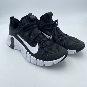 NWOB Nike Men's Size 11.5 Free Metcon 3 Black White Training Shoes CJ0861-010