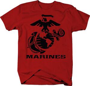 US-Marines-Eagle-Globe-Anchor-Crest-USMC-Semper-Fi-Color-T-Shirt
