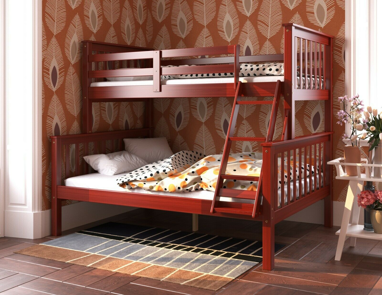 Picture of: 100 Solid Wood Mission Twin Over Full Bunk Bed By Palace Imports 3 Colors