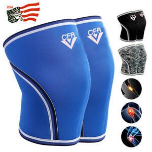 7mm-2x-Knee-Sleeves-Support-Compression-Brace-Squats-Weightlifting-Powerlifting