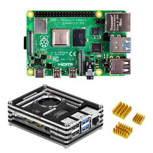 Raspberry-Pi-4-Modelo-B-satater-Kit-4GB-RAM-con-9-capas-caso-y-disipador-de-calor