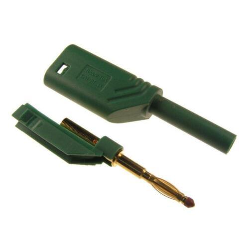 Hirschmann Sicherheitsstecker 2mm MST S WS 30 Au Turmstecker lötbar grün 742516