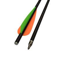 Crossbow Bolts Fiberglass Arrows Archery Hunting 100 Grain Points Flat Nock 8031