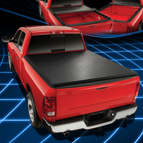 For 99-18 Ford Super Duty 8Ft Lock/&Roll-Up Pickup Truck Bed Soft Tonneau Cover