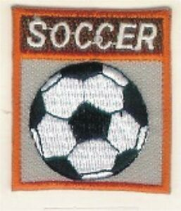 Grey Soccer Ball Football Embroidery Patch