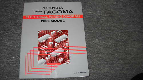 2006 Toyota Tacoma Electrical Wiring Diagrams Troubleshooting Service Manual Ewd