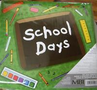 School Days Memory Scrapbook Album 12 X 12 Green
