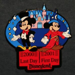 MICKEY-MOUSE-PIN-DISNEYLAND-LE-2000-2001-HAPPY-NEW-YEAR-SORCERER-039-S-APPRENTICE