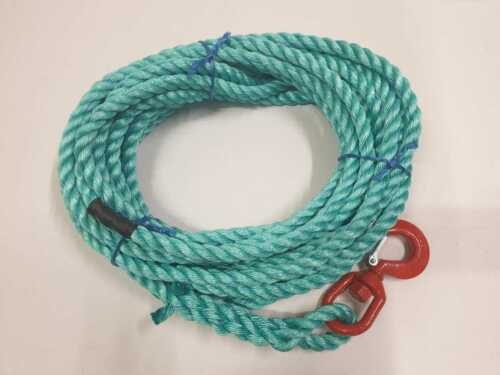 Strong Polysteel Rope Scaffolding 16mm Gin Wheel Rope With Swivel Hook