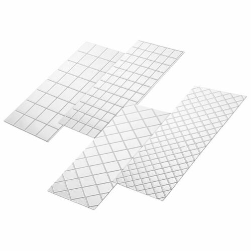 4pcs//Set Grid Transparent Texture Mat Cake Border Decorating Tools Cake Mold NEW