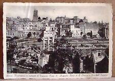 Roma - mercati di Traiano, Foro di Augusto, Foro di Cesare [grande, b/n, viagg.]