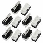 uxcell 10pcs 125v 1a 3 Terminals Momentary 13mm Lever Arm Micro Switch Black Kw10