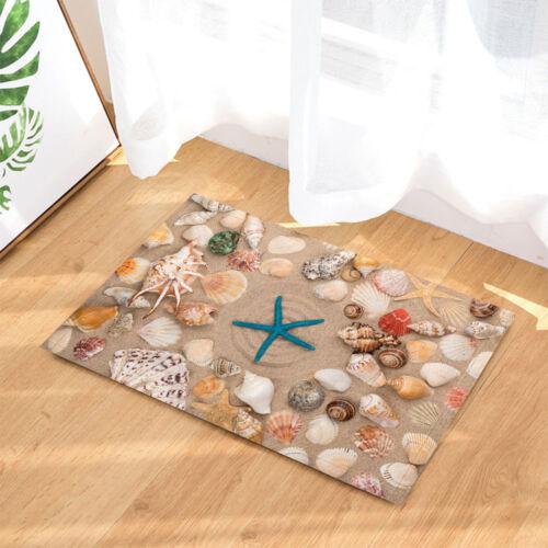 Stars and seashells Curtain Shower Bathroom Decor Fabric 12hooks 71*71inches New