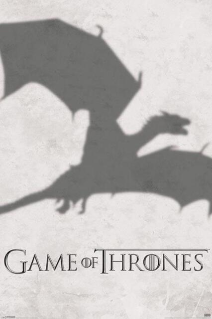 Game of thrones drogon and khaleesi im Art Silk Poster 12x18 24x36